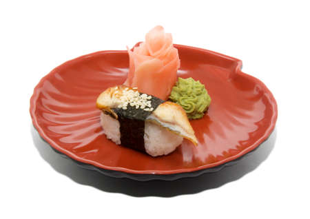 japan traditional food - sushi isolated Stock Photo - 8908312