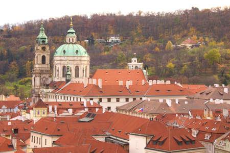 Old Prague city view Czech photo