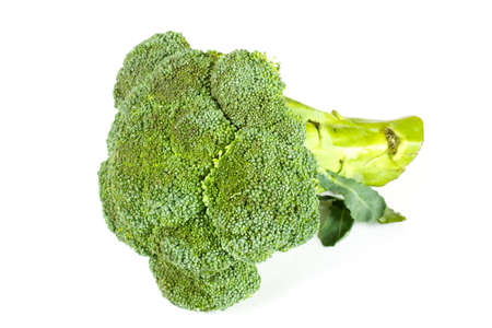 Fresh, Raw, Green Broccoli Pieces, Cut and Ready to Eat photo