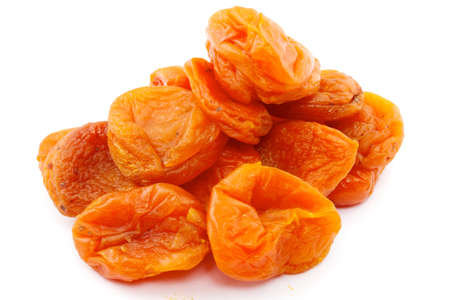 Dried apricots on a white background, Isolated photo