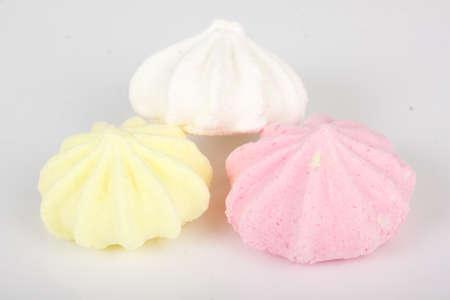 pastila: Isolated marshmallow cakes