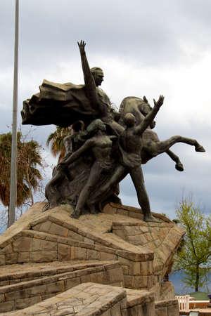 Ataturk, the founder of the Turkish Republic has many monuments along Antalya. photo