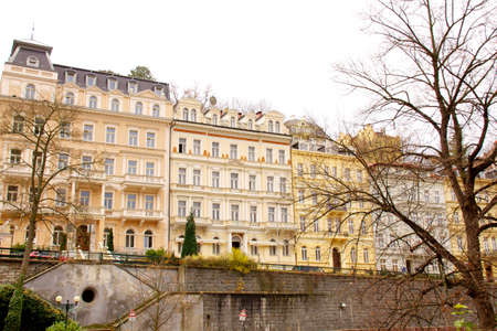 chiming: Famous spa resort Karlovy Vary aka Karlsbad in the Czech Republic