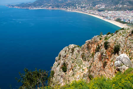 Rock and Mediterranean sea in Turkey Stock Photo - 9794664