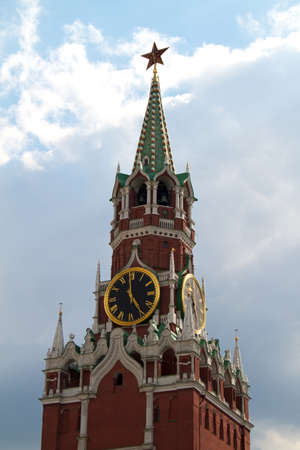 The Saviour (Spasskaya) Tower of Moscow Kremlin, Russia. photo