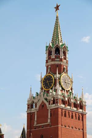 The Saviour (Spasskaya) Tower of Moscow Kremlin, Russia. photo