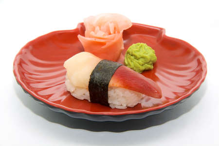 japan traditional food - sushi isolated photo