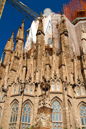 BARCELONA, SPAIN - May 23: La Sagrada Familia - the impressive cathedral designed by Gaudi, which is being build since 19 March 1882 and is not finished yet May 23, 2011 in Barcelona, Spain. Stock Photo - 10007202