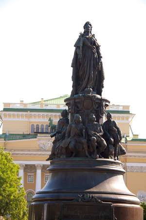 Monument to empress and the Alexandrine theater