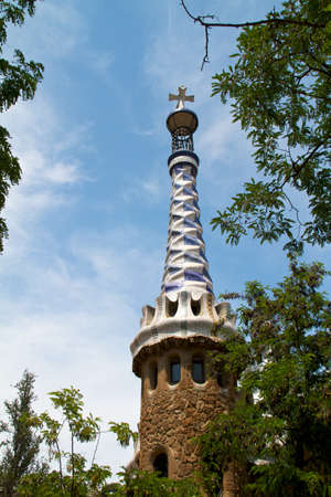 BARCELONA, SPAIN -May 27: The famous Park Guell on May 27, 2011 in Barcelona, Spain. The impressive and famous park was designed by Antoni Gaudi. Stock Photo - 10290570