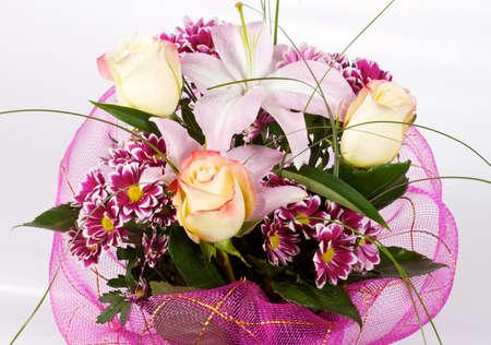 sympathy flowers: Floral arrangement  Stock Photo