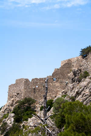 Ancient ruins on Rhodes island, Greece photo