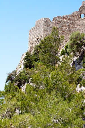 Ancient ruins on Rhodes island, Greece photo