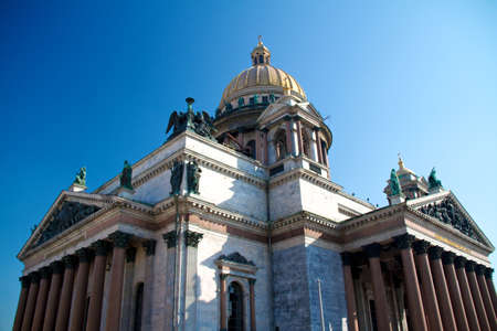 Saint-Petersburg, Russia. Cupola of St.Isaacs Cathedral photo