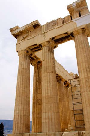 The Parthenon, in Athens Akropolis, Greece, EU photo