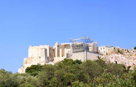 the famous parthenon monument of athens, greece