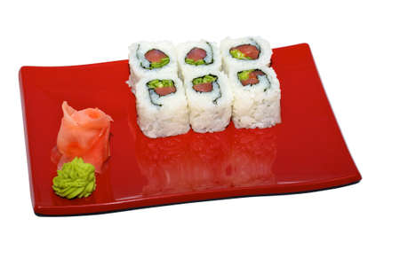 japan trditional food isolated - rolls photo