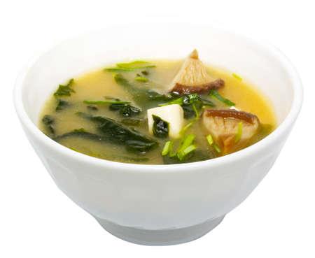 日本料理「味噌汁 写真素材