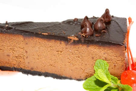 Dessert - Cheesecake with Green Mint Stock Photo - 10350366