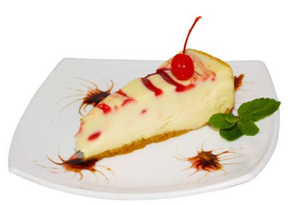 Dessert - Cheesecake with Green Mint photo