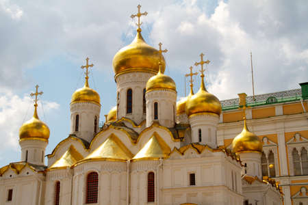 The Cathedral of the Annunciation in Kremlin, Moscow, Russia Stock Photo - 10489874