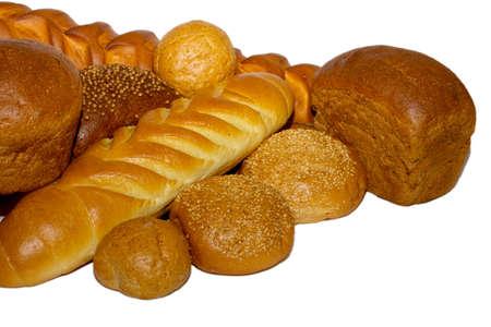 焼きたてのパンの品揃え 写真素材