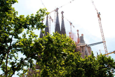 BARCELONA, SPAIN - May 23: La Sagrada Familia - the impressive cathedral designed by Gaudi, which is being build since 19 March 1882 and is not finished yet May 23, 2011 in Barcelona, Spain. Stock Photo - 10732058