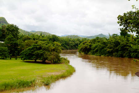 river in jungle, Thailand photo