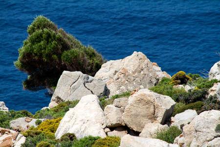 island and sea, greece photo
