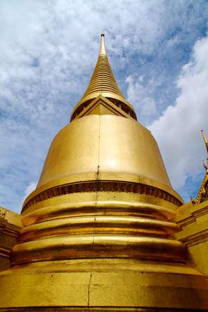 venerate: Golden pagoda in Grand Palace Bangkok Thailand