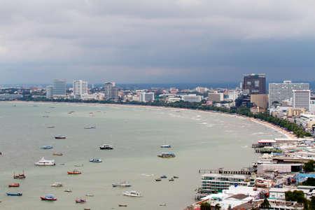 PATTAYA -  SEPTEMBER 10 : Pattaya-city birds view September 10, 2011 in Pattaya The Bird eye view of Pattaya city, Thailand