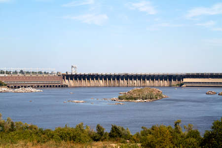 dnepr: Hydroelectric power station. The river Dnepr. Zaporozhye. Ukraine