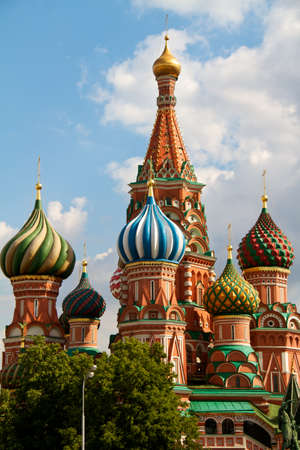 The Cathedral of Saint Basil the Blessed or simply Pokrovskiy Cathedral is a multi-tented church on the Red Square in Moscow. It is an international symbol for the nation and for the city of Moscow. photo