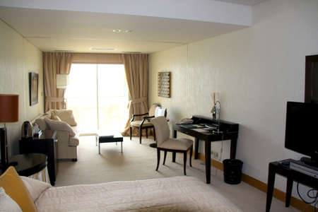 deluxe: Typical hotel room - deluxe Editorial