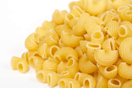 close up of a dried italian pasta on white background Stock Photo - 11349719