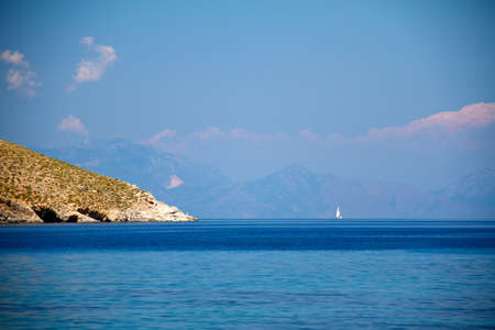 island and sea, greece photo