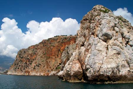 mediteranean: Rock and Mediterranean sea in Turkey