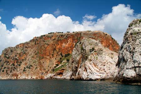 Rock and Mediterranean sea in Turkey Stock Photo - 11400674