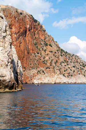 Rock and Mediterranean sea in Turkey Stock Photo - 11400673