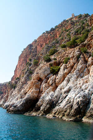 Rock and Mediterranean sea in Turkey Stock Photo - 11389460
