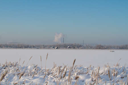 Winter on lake in Russia Stock Photo - 11362315