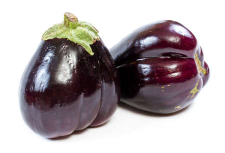 eggplant on a white background photo