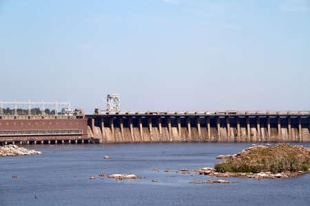 dnepr: Hydroelectric power station. The river Dnepr. Zaporozhye. Ukraine