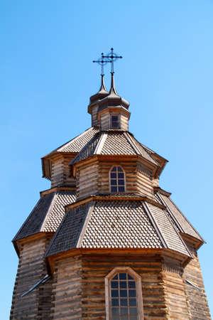 woode church on island Hortitsa Ukrain Stock Photo - 11418730