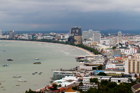 PATTAYA -  SEPTEMBER 10 : Pattaya-city birds view September 10, 2011 in Pattaya The Bird eye view of Pattaya city, Thailand Stock Photo - 11413934