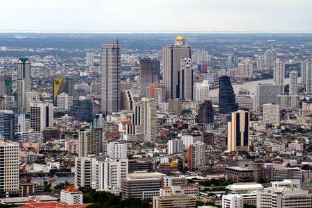 BANGKOK - SEPTEMBER 15 : Bangkok city view September 15, 2011 in Bangkok. City view from the skyscrapper Stock Photo - 11413945