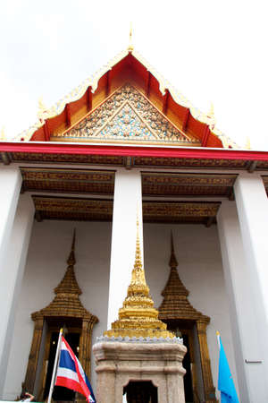 Thailand Bangkok Wat Arun temple detail photo