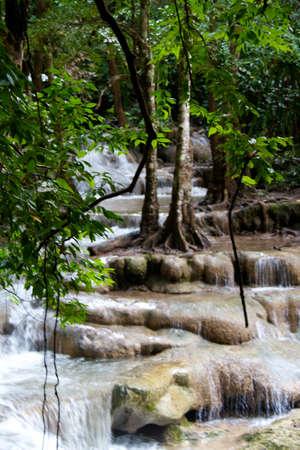 Erawan Waterfall, Kanchanaburi, Thailand Stock Photo - 11369666
