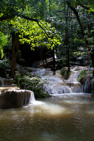 kanchanaburi: Erawan Waterfall, Kanchanaburi, Thailand