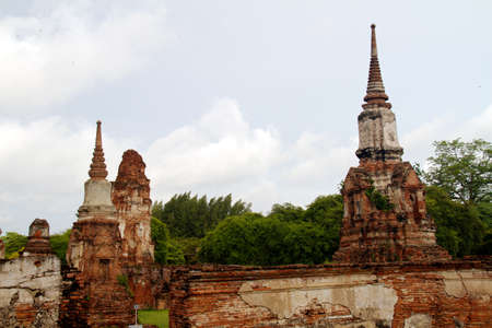 Pagoda at Wat Chaiwattanaram Temple, Ayutthaya, Thailand photo